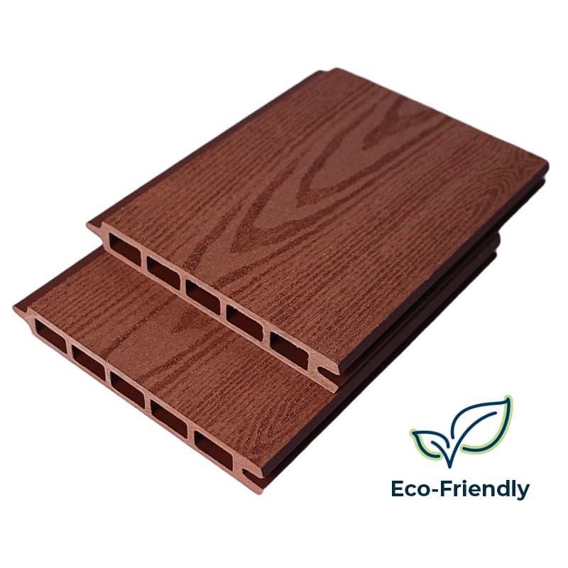 dark oak composite fence boards